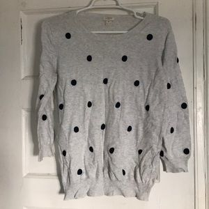 J. Crew polka dot sweater medium
